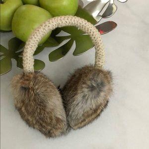 Theory Rabbit fur earmuffs